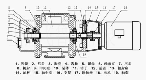 罗茨真空泵内部结构图