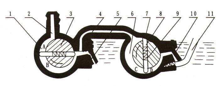 2X型旋片式真空泵原理图