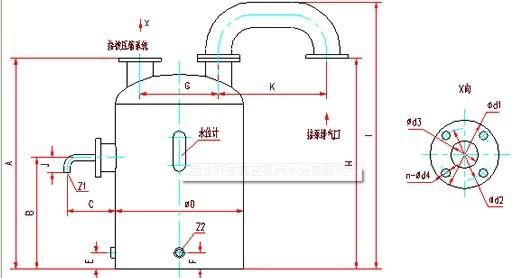 SK型水环式真空泵安装尺寸图
