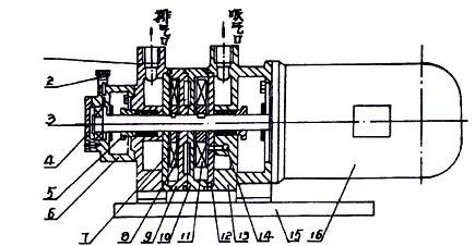 2sk-0.8两级水环真空泵结构图