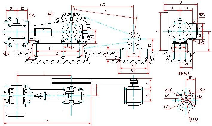 W系列往复式真空泵安装图1