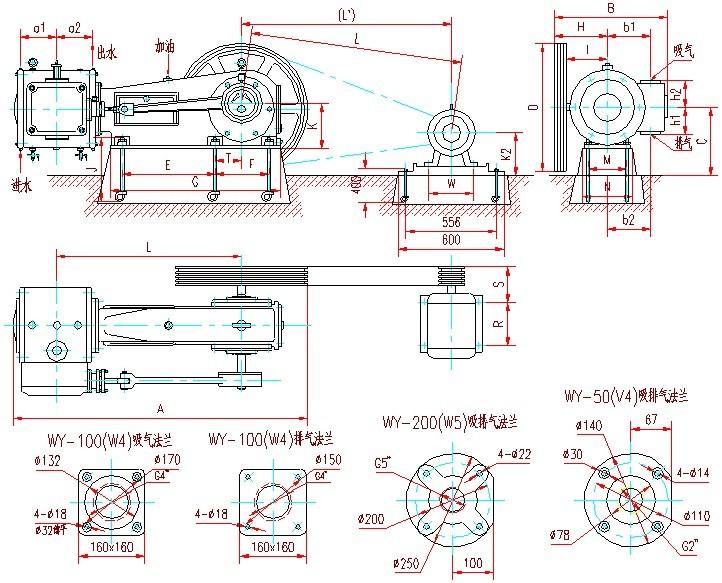 二、W系列往复式真空泵概述: W系列往复式真空泵(又称活塞式真空泵),属于低真空获得设备之一,它的极限压力一般在1330~2660Pa,它的抽速范围比较大,从50L/S到200L/S,适用于石油、化工、医药、食品、轻工、冶金、电气等行业中的真空浸渍、钢水真空处理、真空蒸馏、真空蒸发、真空浓缩、真空结晶、真空干燥、真空过滤及混凝土的真空作业等方面的抽除气体。W系列往复式真空泵不适用于抽除含氧过高的、有爆炸性的、对金属有腐蚀性的、与泵油会起化学反应的以及含有颗粒尘埃的气体,也不适用于把气体从一个容器输送到另一