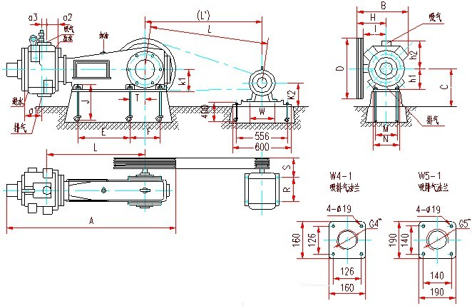 W系列往复式真空泵安装图3