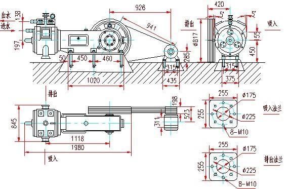 W系列往复式真空泵安装图4