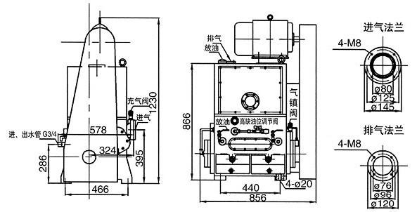 2H-150A滑阀式真空泵