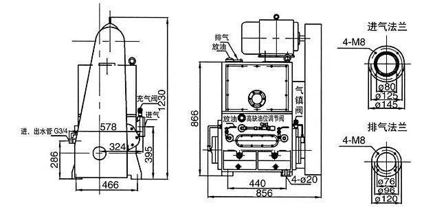 2H-70A/2H-70M滑阀式真空泵: