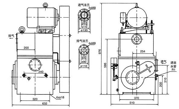 2H-30A滑阀式真空泵: