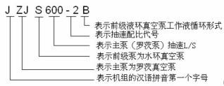 JZJS系列罗茨水环真空机组的型号意义